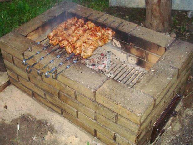 Как сделать мангал и барбекю фото