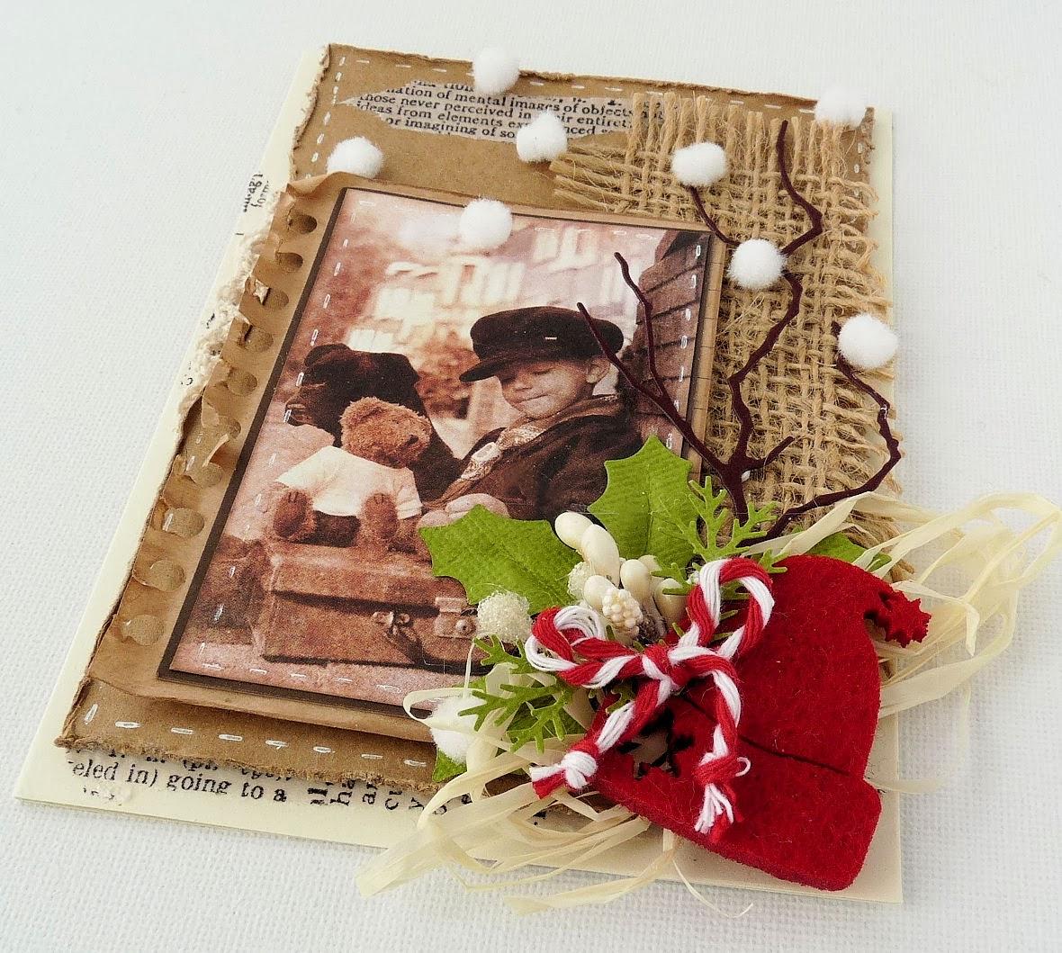 открытки на мешковине