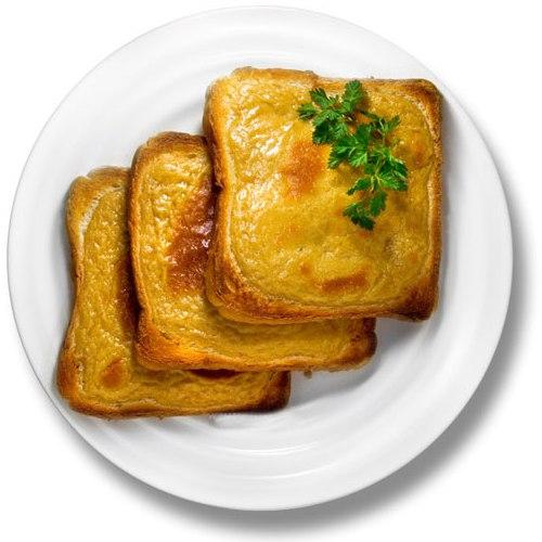 жареные канапе с сыром грюйер