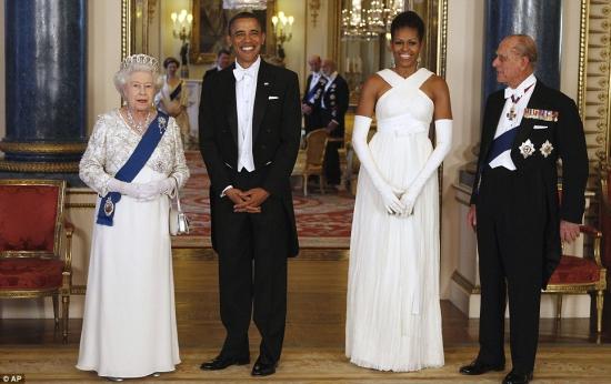 Барак Обама и королева Англии