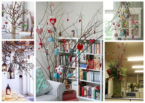 Украшение комнаты на новый год без елки