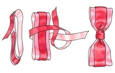 Как сделать двухцветный бант на подарок