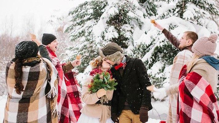 Подготовка зимней свадьбы Гости