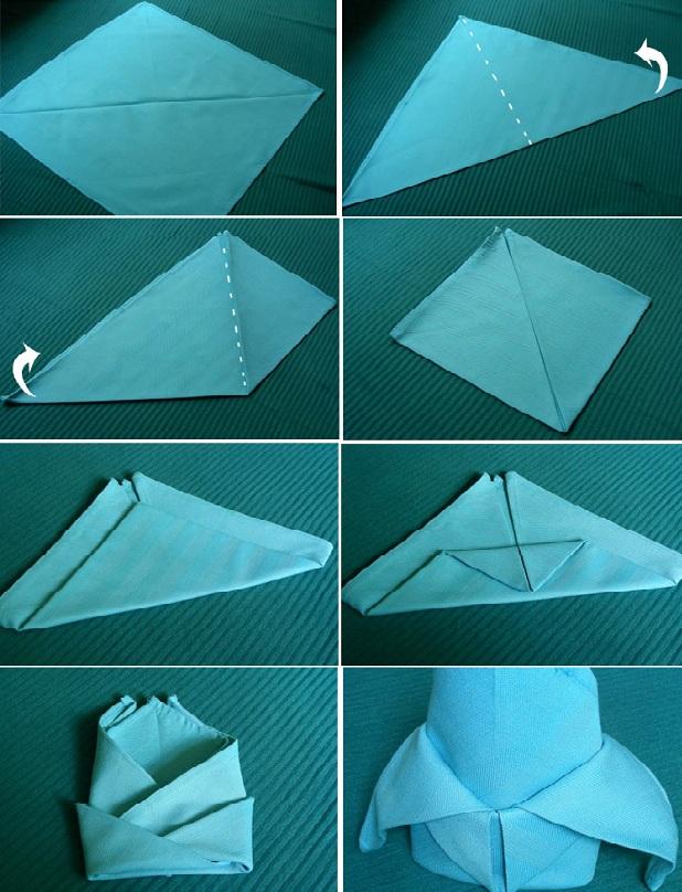 как сделать салфетки на стол