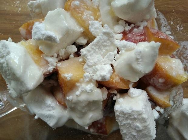 Простой нектариновый десерт