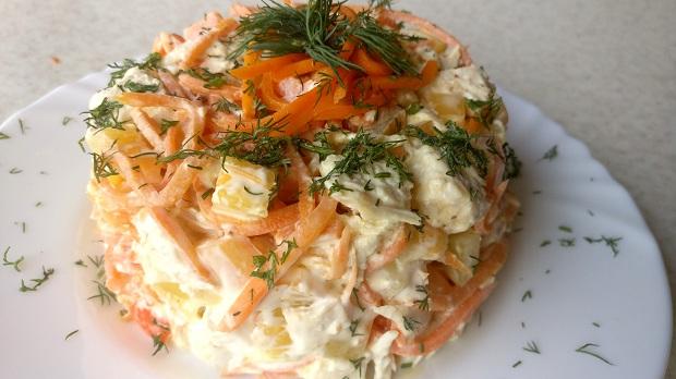 Рецепт с куриным филе и морковкой по-корейски