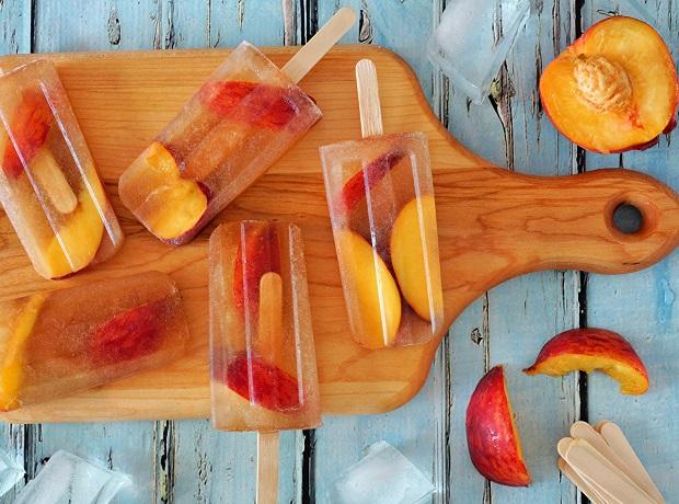 С персиком и вишневым соком