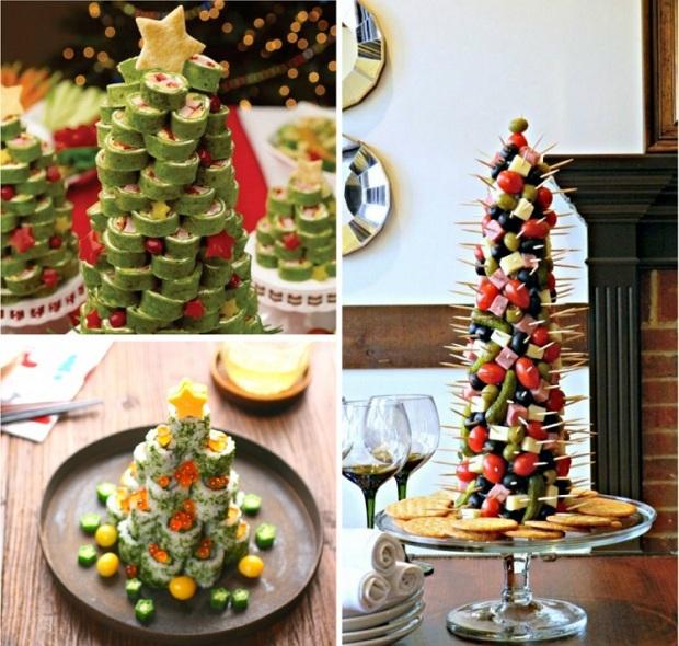 Украшаем новогодние блюда и делаем новые