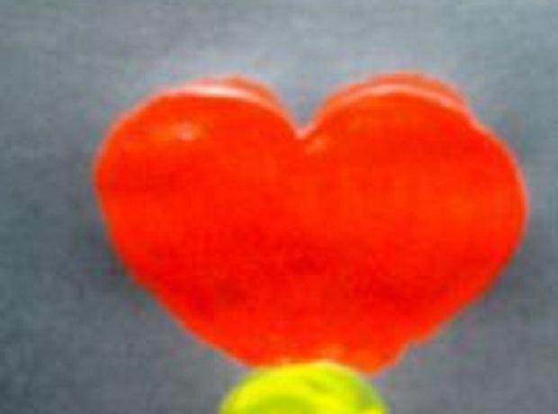 листик в форме сердца