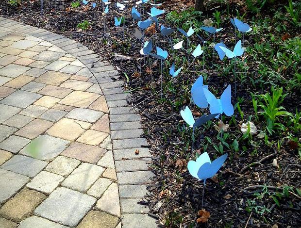 Бабочки для украшения дома или сада