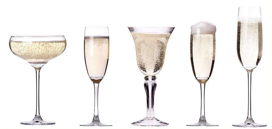 Выбор бокалов для шампанского